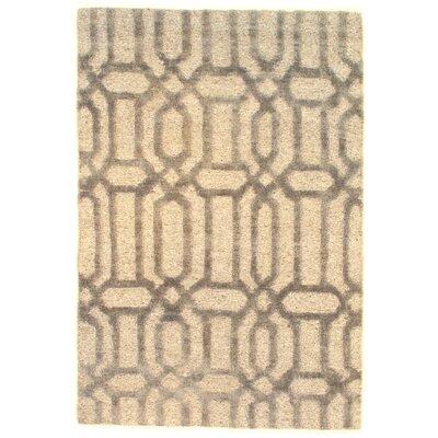 Loop & Pile Modern Soumak Weave Hand-Knotted Wool Beige Area Rug