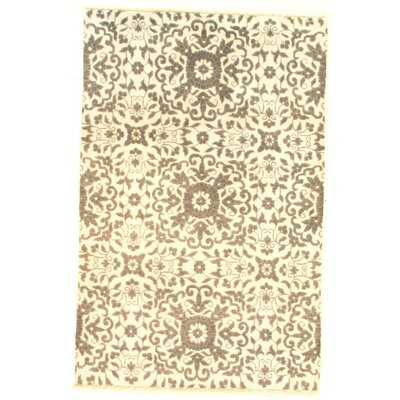 Modern Rayon from Bamboo Hand-Knotted Gray Area Rug