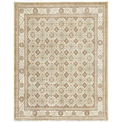 Khotan Hand-Knotted Wool Beige Area Rug