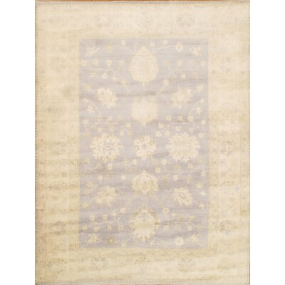 Oushak Design Hand-Knotted Wool Beige Area Rug