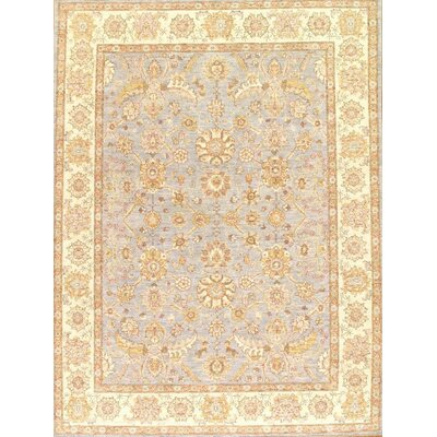 Farahan Hand-Knotted Wool Yellow Area Rug