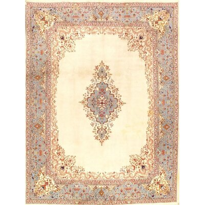 Royal Kerman Design Hand-Knotted Wool Ivory Area Rug