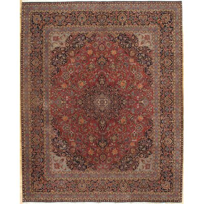 Persian Kashan Design Hand-Knotted Wool Red Area  Rug