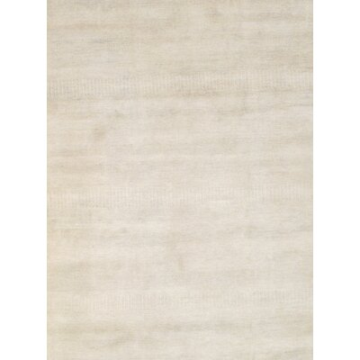 Modern Grass Hand-Knotted Wool Beige Area Rug