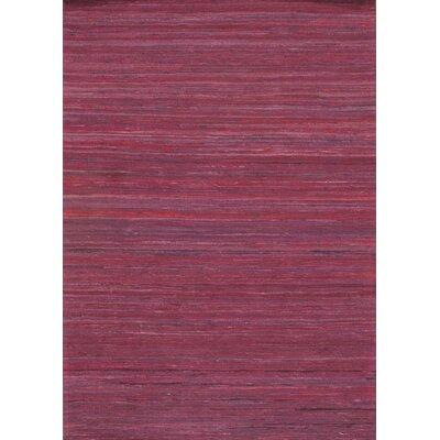 Sari Modern Hand-Knotted Wool Burgundy Area Rug