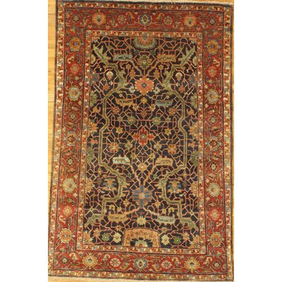 Serapi Fine Design Hand-Knotted Wool Brown Area Rug