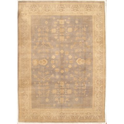 Khotan Hand-Knotted Wool Cream Area Rug