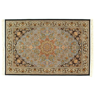 Persian Fine Tabriz Wool Light Blue/Brown Area Rug