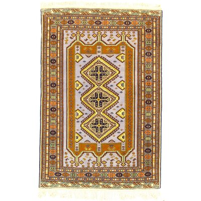 Persian Ardabil Hand-Knotted Wool Light Brown Area Rug