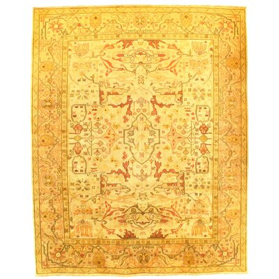 Oushak Hand-Knotted Wool Camel Area Rug