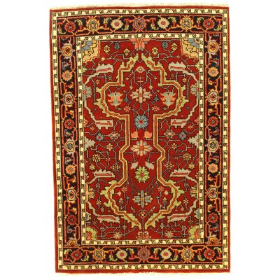 Serapi Fine Hand-Knotted Wool Rust Area Rug