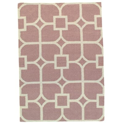 Modern Flat Weave Hand-Knotted Wool Gray Area Rug