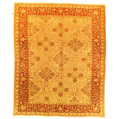 Sino Amristar Design Hand-Knotted Wool Beige Area Rug