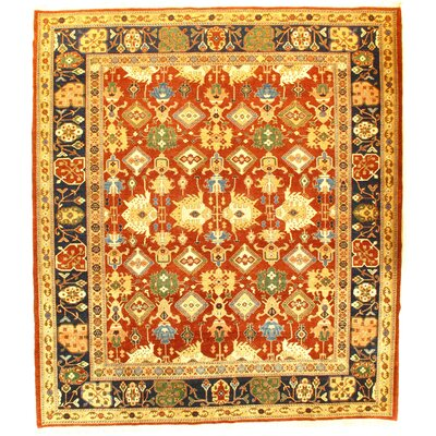 Pak Modern Farahan Hand-Knotted Wool Rust Area Rug
