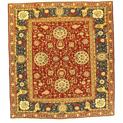 Sultanabad Sumak Hand-Knotted Wool Red Area Rug