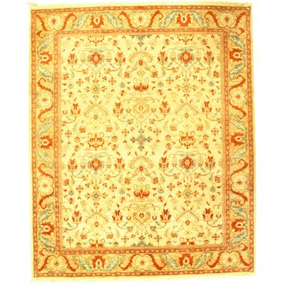 Pak Modern Farahan Hand-Knotted Wool Ivory Area Rug