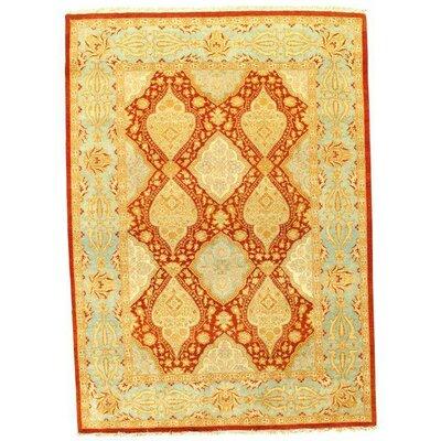 Fine Pak Tabriz Hand-Knotted Wool Rust Area Rug