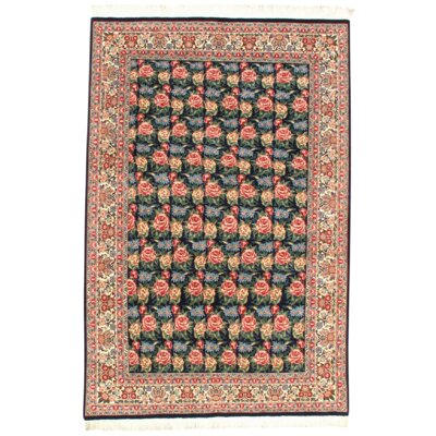 Pak Tabriz Hand-Knotted Wool Navy Area Rug