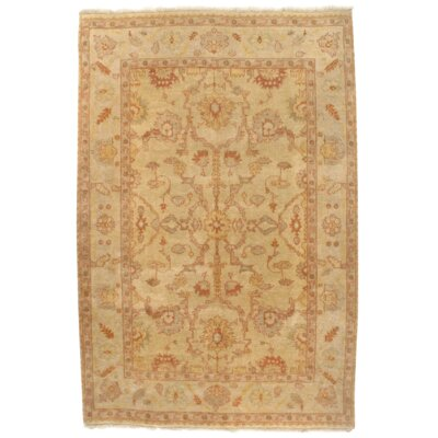 Original Oushak Design Hand-Knotted Wool Beige Area Rug