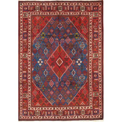 Persian Original Josheghan Hand-Knotted Wool Red/Blue Area Rug