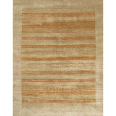 Gabbeh Lori Baft Tan Hand-Knotted Wool Beige Area Rug