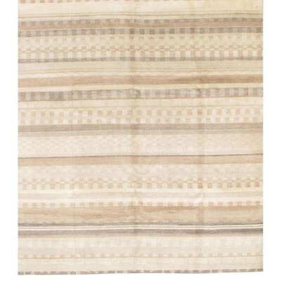 Gabbeh Lori Baft Hand-Knotted Wool Beige Area Rug