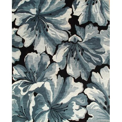 Modern Hand-Knotted Wool Black/Gray Area Rug