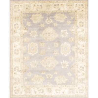 Oushak Design Hand-Knotted Wool Gray/Beige Area Rug