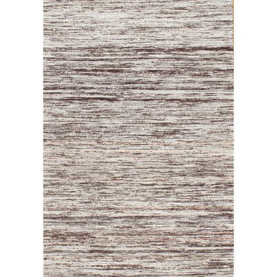 Sari Modern Hand-Knotted Wool Brown Area Rug