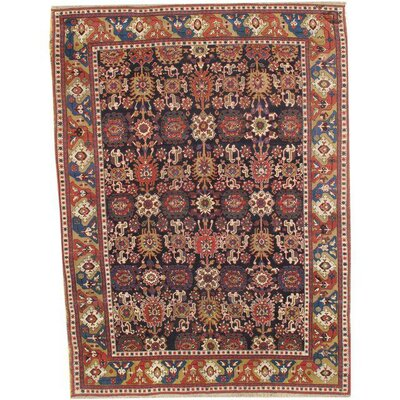 Sino Kazak Design Hand-Knotted Wool Brown/Blue Area Rug