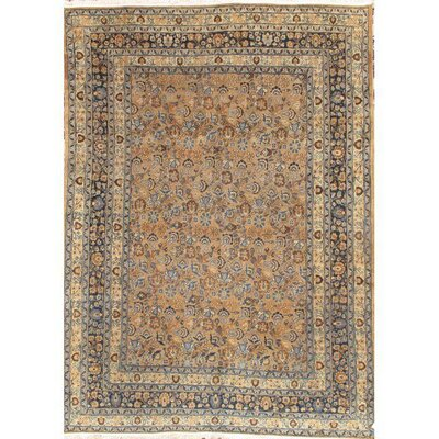 Persian Mashad Hand-Knotted Wool Brown/Beige Area Rug