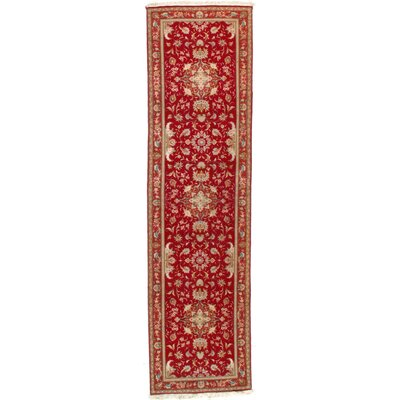 Persian Tabriz Hand-Knotted Silk/Wool Red Area Rug