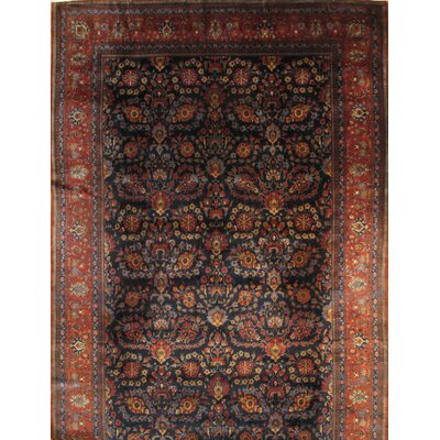 Persian Kashan Hand-Knotted  Wool Red Area Rug