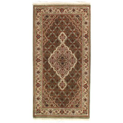 Persian Tabriz Hand-Knotted Silk/Wool Brown/Beige Area Rug