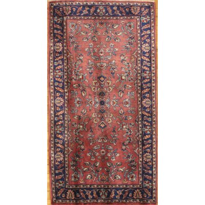 Genuine Sarouk Design Hand Knotted Wool Rust Area Rug