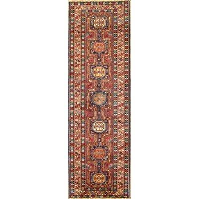 Genuine Kazak Design Hand-Knotted Wool Brown Area Rug