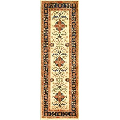 Genuine Sultanabad Design Hand-Knotted Wool Brown/Ivory Area Rug