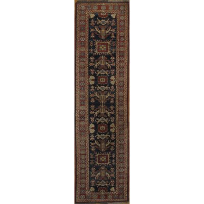 Genuine Kazak Design Hand-Knotted Wool Brown/Black Area Rug