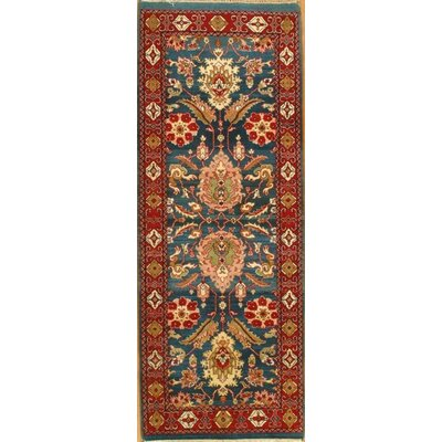 Genuine Hand-Knotted Wool Red Area Rug