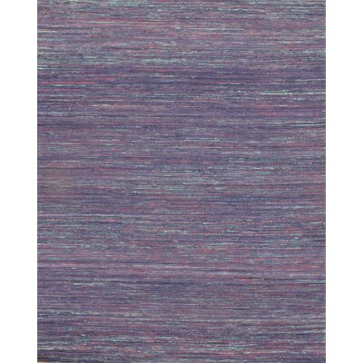 Sari Modern Flat Weave Hand-Knotted Silk Purple Area Rug
