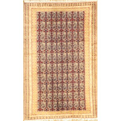 Fine Pak Bokhara Hand-Knotted Wool Red/Beige Area Rug