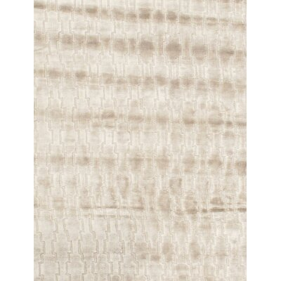Modern Hand-Knotted Silk Beige/Gray Area Rug Rug Size: Rectangle 41 x 511