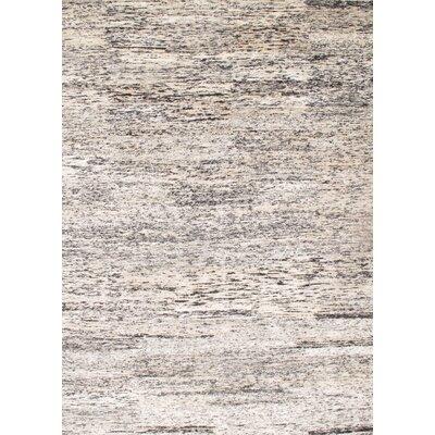 Sari-Silk Modern Flat Weave Hand-Knotted Silk Beige/Gray Area Rug