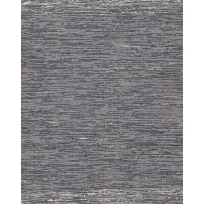 Genuine Indo Denim Reversible Hand-Woven Cotton Gray Area Rug Rug Size: Rectangle 8 x 10 2