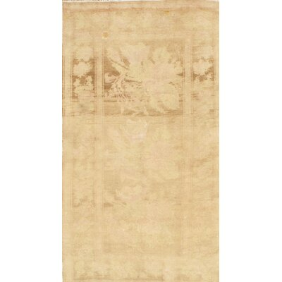 Qarabag Russian Hand-Knotted Wool Beige Area Rug