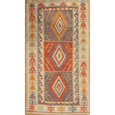 Genuine Turkish Hand-Knotted Wool Beige Area Rug