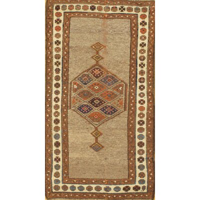 Persian Hand-Knotted Wool Camel Area Rug