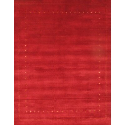Gabbeh Lori Baft Hand-Knotted Wool Red Area Rug