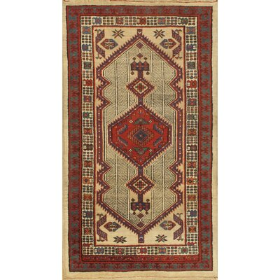 Antique Persian Saravand Hand-Knotted Wool Rust Area Rug