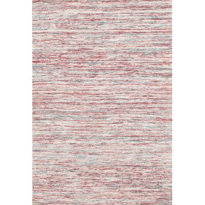 Sari Modern Flat Weave Hand-Knotted Silk Pink Area Rug